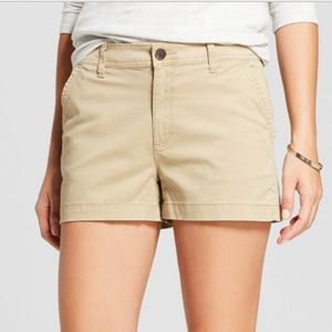 Merona Size 8 shorts khaki